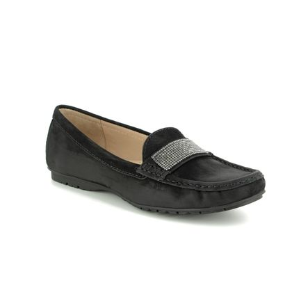 Begg Shoes Loafers and Moccasins - Black nubuck - 25693/33 ANTONIA
