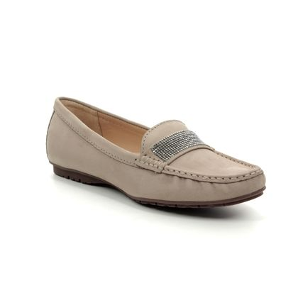 Begg Shoes Loafers and Moccasins - Taupe nubuck - 25693/35 ANTONIA