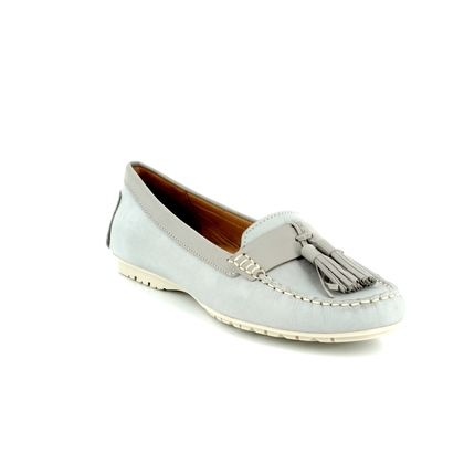 Begg Shoes Loafers and Moccasins - Light Grey - 25816/20 ANTONIA TASSLE