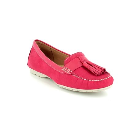 Begg Shoes Loafers and Moccasins - Red nubuck - 25816/80 ANTONIA TASSLE