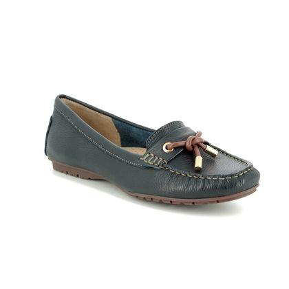Begg Shoes Loafers and Moccasins - Navy Tan - 25895/77 ANTONITA