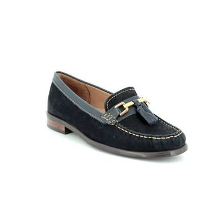 Begg Shoes Loafers and Moccasins - Navy Nubuck - 16592/70 DONELLA CLASSIC