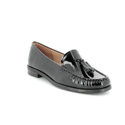 Begg Shoes Loafers and Moccasins - Black patent - 1655/54 DONELTA
