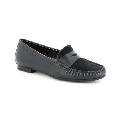 Begg Shoes Loafers and Moccasins - Navy - 2910/27 FLORA