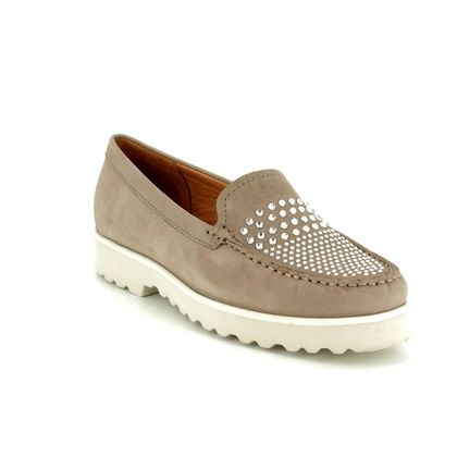 Begg Shoes Loafers and Moccasins - Taupe nubuck - 16649/00 PORSCHEDIA
