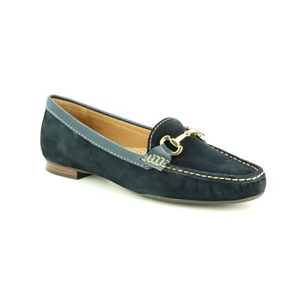 Begg Shoes Loafers and Moccasins - Navy Nubuck - 25836/70 SUNFLOWER