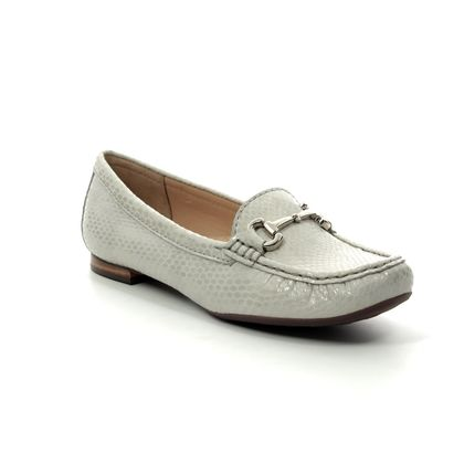 Begg Shoes Loafers and Moccasins - Beige patent-suede - 25836/00 SUNFLOWER 91