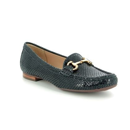 Begg Shoes Loafers and Moccasins - Navy Patent-Suede - 25836/77 SUNFLOWER 91