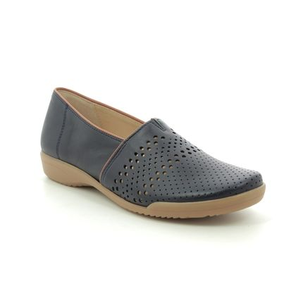 Ara Comfort Slip On Shoes - Navy leather - 793/05 ANDROS