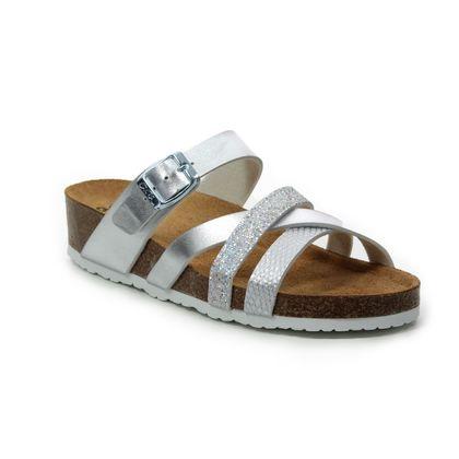 Ara Slide Sandals - White-silver - 17287/06 BALI STRAP