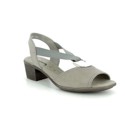 Ara Heeled Sandals - Grey - 56407/09 BALLINA