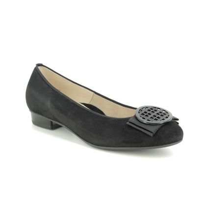 Ara Pumps - Black Suede - 43720/75 BARI ROUND