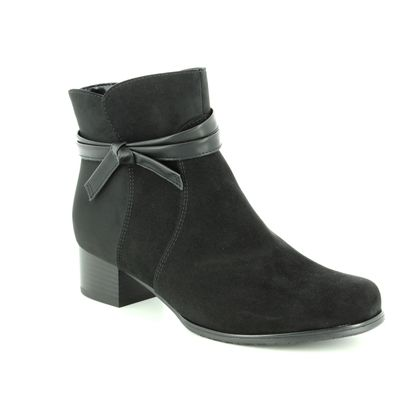 Ara Fashion Ankle Boots - Black - 63654/61 CATABOW WIDE FIT
