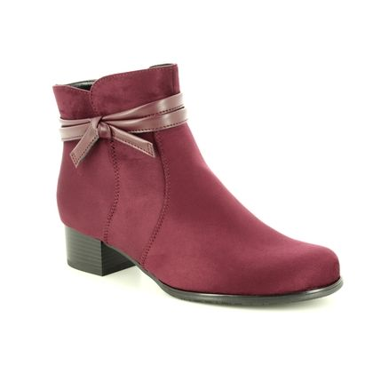 Ara Fashion Ankle Boots - Wine - 63654/66 CATABOW WIDE FIT