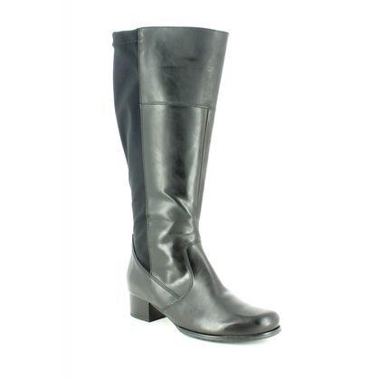 Ara Knee High Boots - Black - 63655/71 CATALONG WIDE FIT