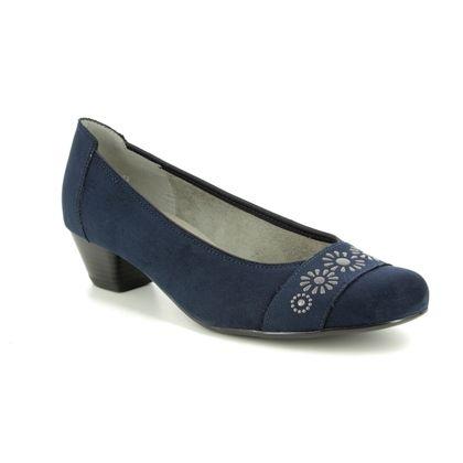 Ara Court Shoes - Navy - 53604/72 CATAN GEM WIDE FIT