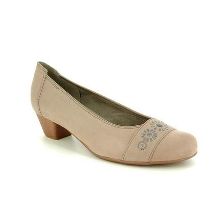 Ara Court Shoes - Beige - 53604/75 CATAN GEM WIDE FIT