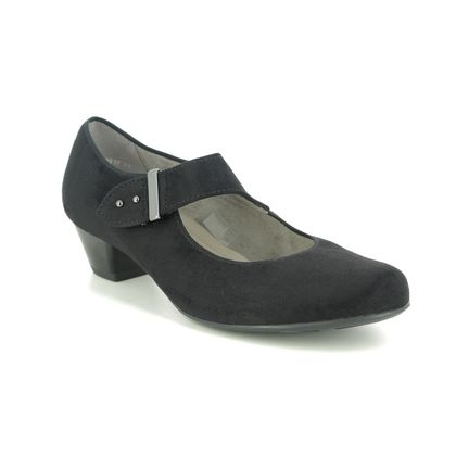 Ara Mary Jane Shoes - Black suede - 63617/71 CATANIA WIDE MARY JANE