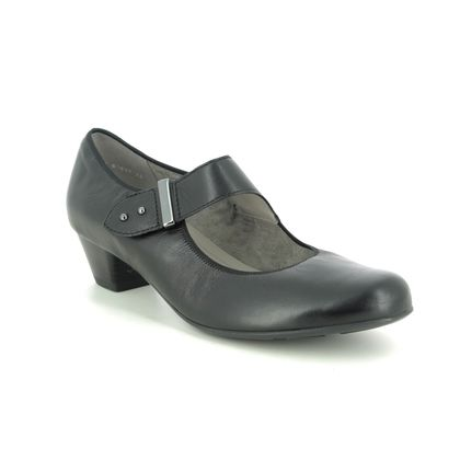 Ara Mary Jane Shoes - Black leather - 63617/74 CATANIA WIDE MARY JANE