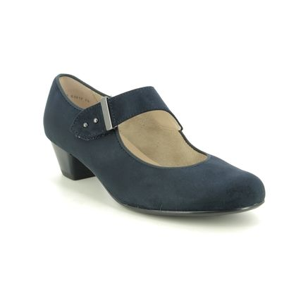Ara Mary Jane Shoes - Navy suede - 63617/78 CATANIA WIDE MARY JANE