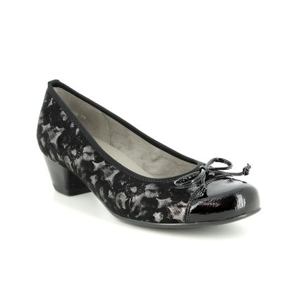Ara Court Shoes - Black patent - 63606/78 CATANIABOW WIDE FIT