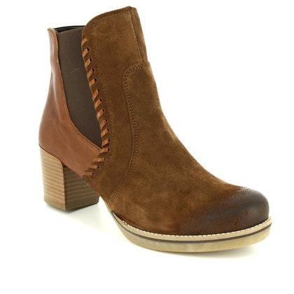 Ara Fashion Ankle Boots - Tan Suede - 46957/76 FLORENZ