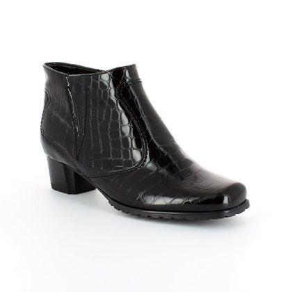 Ara Boots - Ankle - Black croc - 61879/66 GENFCROC