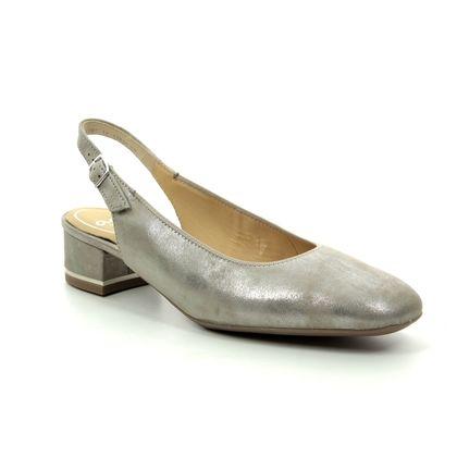 Ara Slingback Shoes - Metallic - 11834/08 GRAZ SLING WIDE FIT