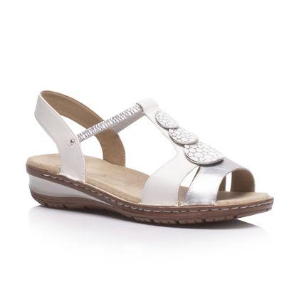 Ara Comfortable Sandals - White-silver - 27242/77 HAWAII KOREGI