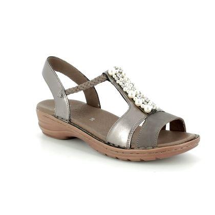 Ara Comfortable Sandals - Pewter - 27203/05 HAWAII PEARL