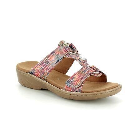 Ara Slide Sandals - Multi Coloured - 57268/57 KOREGEM