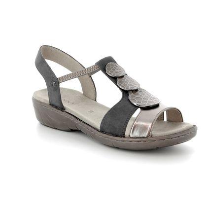 Ara Comfortable Sandals - Pewter multi - 57287/75 KOREGI 81