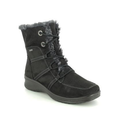 Ara Lace Up Boots - Black - 48554/65 MUNICH LACE GTX