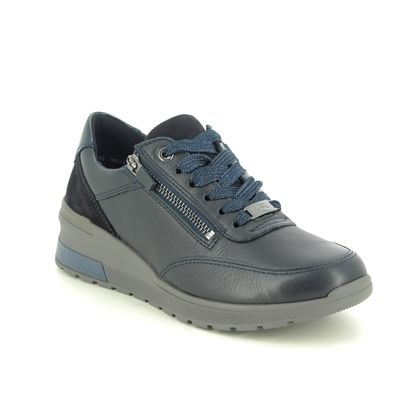 Ara Comfort Lacing Shoes - Navy leather - 18403/06 NEAPEL TRON