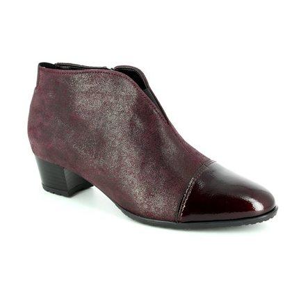 Ara Fashion Ankle Boots - Wine - 42110/91 PADUA