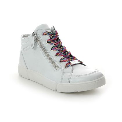 Ara Trainers - WHITE LEATHER - 14435/13 ROM ST HIGHSOFT