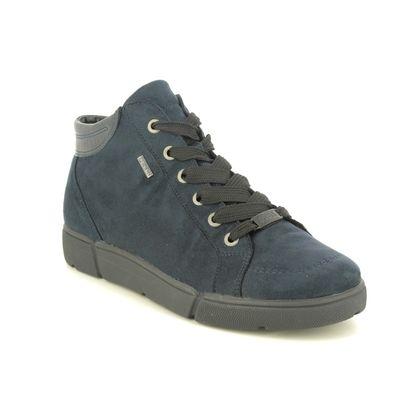 Ara Lace Up Boots - Navy - 14447/09 ROMHI GTX