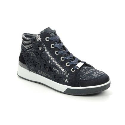 Ara Trainers - Navy Leather - 34499/05 ROMID HIGHSOFT