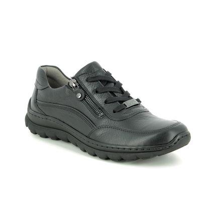 Ara Comfort Lacing Shoes - Black leather - 18522/71 TAMPA