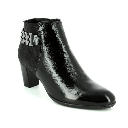 Ara Fashion Ankle Boots - Black patent - 43463/71 TOULOUISE