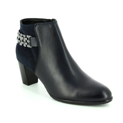 Ara Fashion Ankle Boots - Navy - 43463/75 TOULOUISE