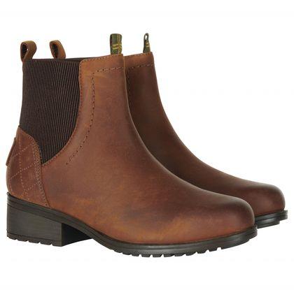 Barbour Chelsea Boots - Brown leather - LFO0437/BR99 EDEN TEX