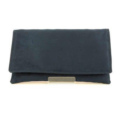 Begg Exclusive Occasion Handbags - Navy suede - 0047/70 MEGAN POSH