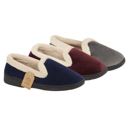 Begg Shoes Slippers & Mules - Navy - 0508/ CASHMERE