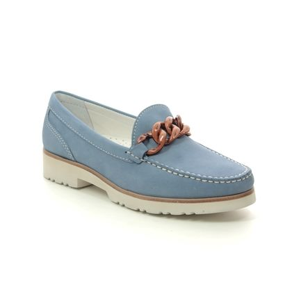 Begg Shoes Loafers and Moccasins - Blue nubuck - 50624/72 CAYENNE