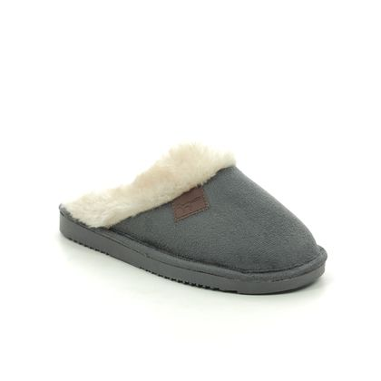 Begg Exclusive Slippers & Mules - Charcoal - 7660/00 WICKLOW
