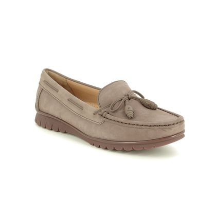 Begg Shoes Loafers and Moccasins - Taupe nubuck - 50597/50 GUANTES