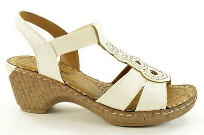 Begg Shoes Wedge Sandals - Off White - B33203/15 ROBDISC
