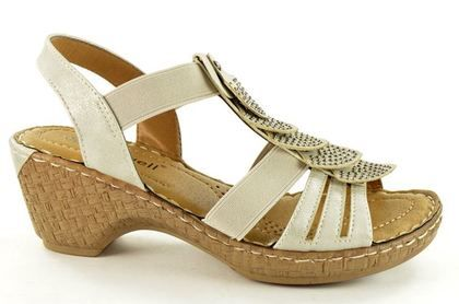 Begg Exclusive Wedge Sandals - Silver - B33202/91 ROBRUFF