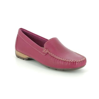 Begg Exclusive Loafers and Moccasins - Fuchsia Leather - 40539/62 SUNDAY WIDE FIT
